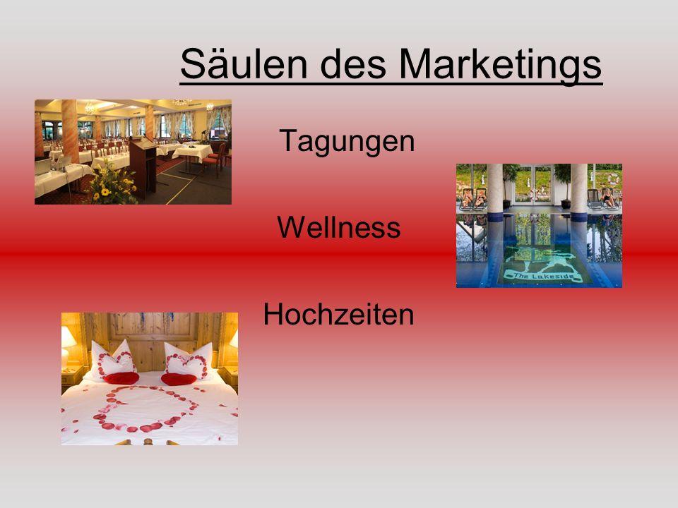 Säulen des Marketings Tagungen Wellness Hochzeiten