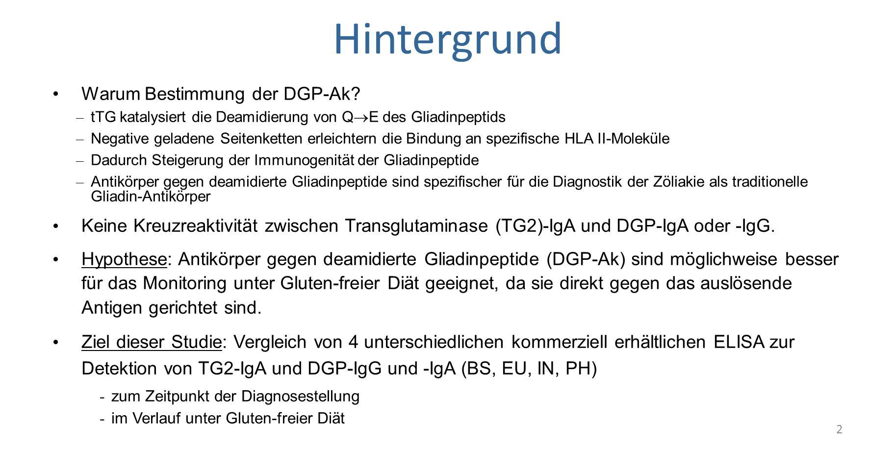 Hintergrund Warum Bestimmung der DGP-Ak