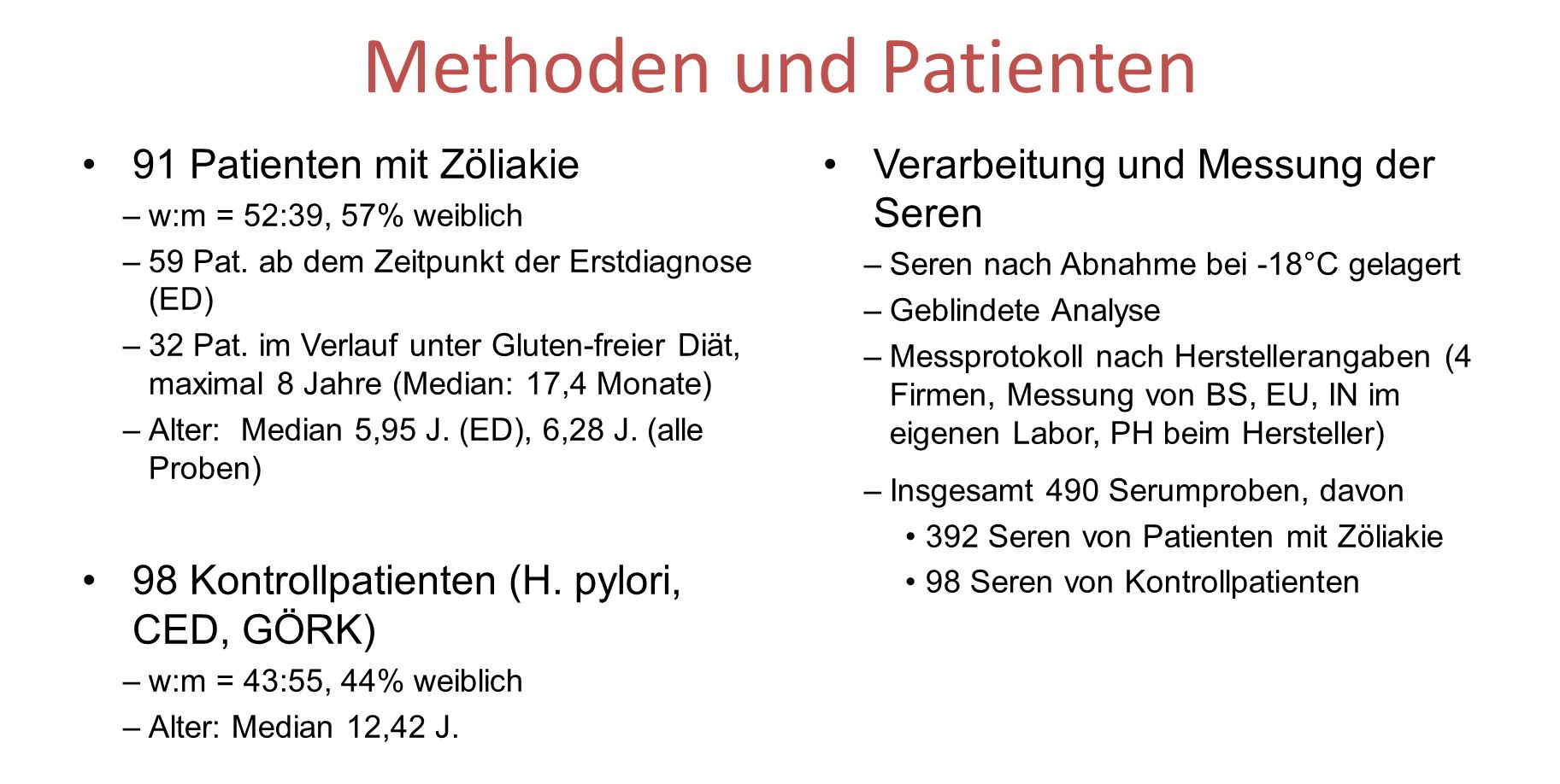 Methoden und Patienten