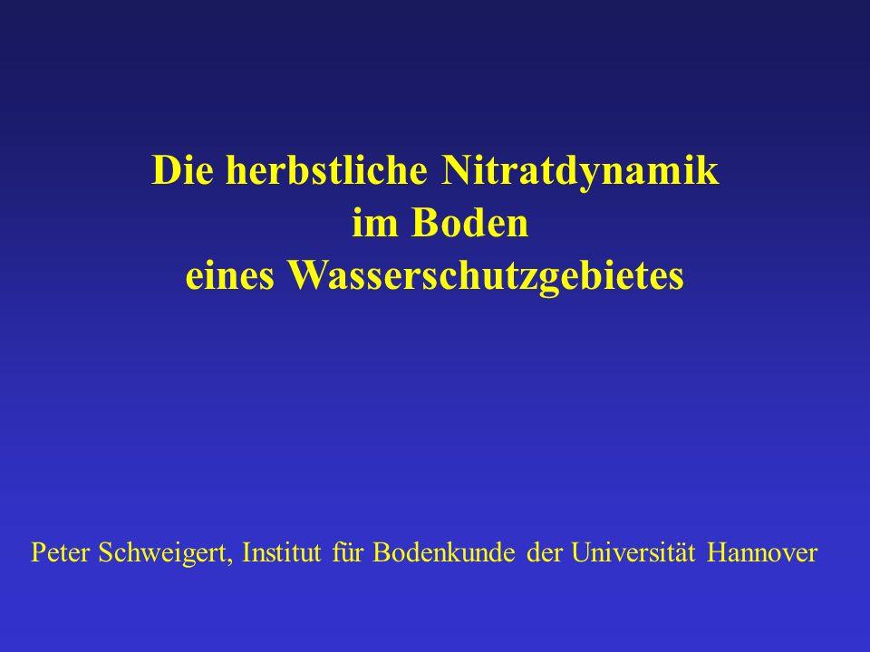 Die herbstliche Nitratdynamik im Boden eines Wasserschutzgebietes
