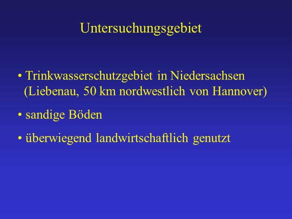 Untersuchungsgebiet Trinkwasserschutzgebiet in Niedersachsen (Liebenau, 50 km nordwestlich von Hannover)