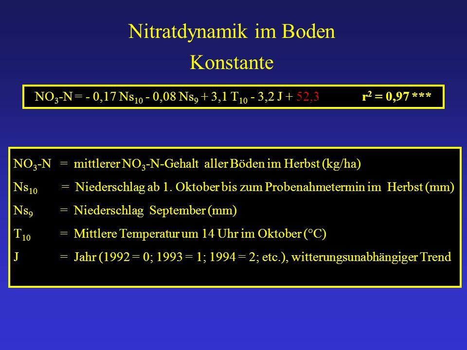 Nitratdynamik im Boden