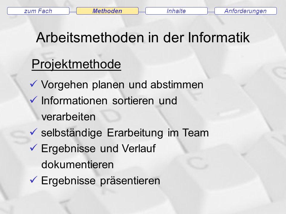 Arbeitsmethoden in der Informatik