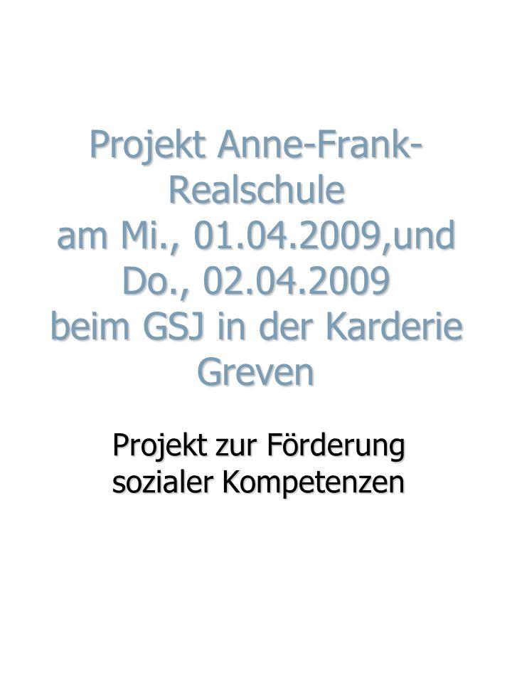 Projekt zur Förderung sozialer Kompetenzen