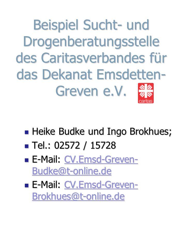Beispiel Sucht- und Drogenberatungsstelle des Caritasverbandes für das Dekanat Emsdetten-Greven e.V.