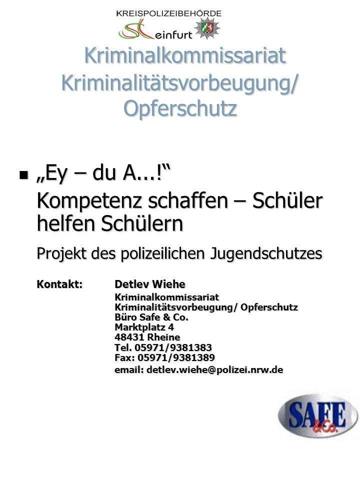 Kriminalkommissariat Kriminalitätsvorbeugung/ Opferschutz