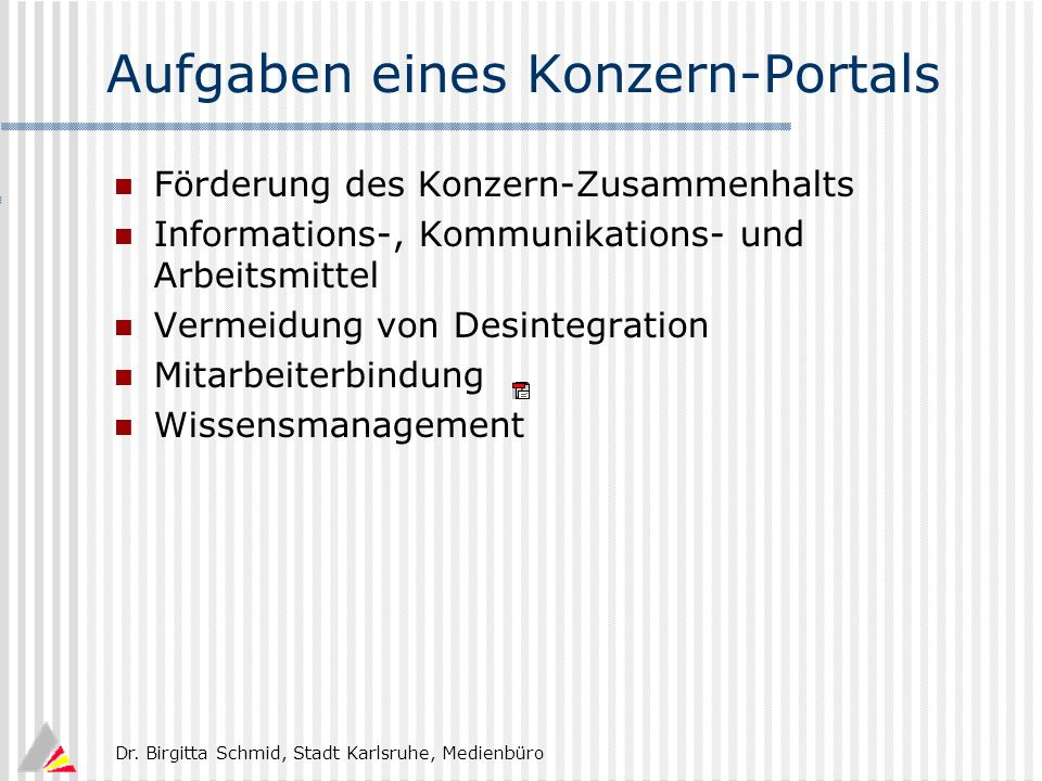 Aufgaben eines Konzern-Portals
