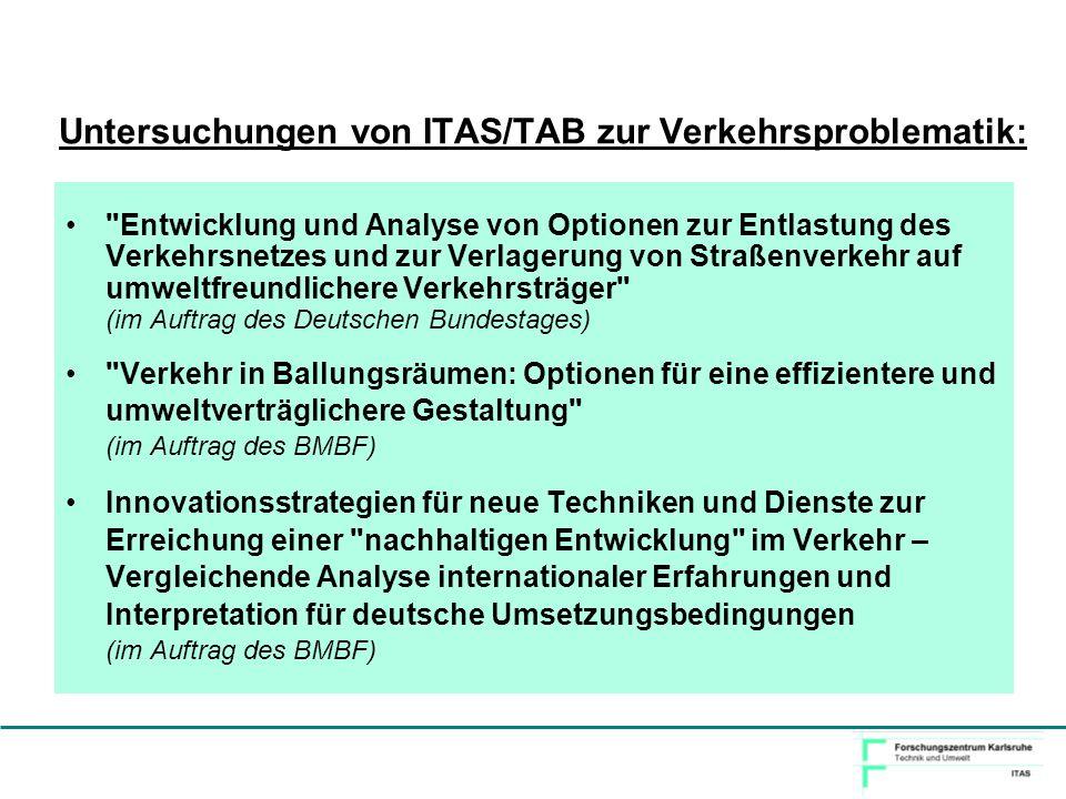 Untersuchungen von ITAS/TAB zur Verkehrsproblematik: