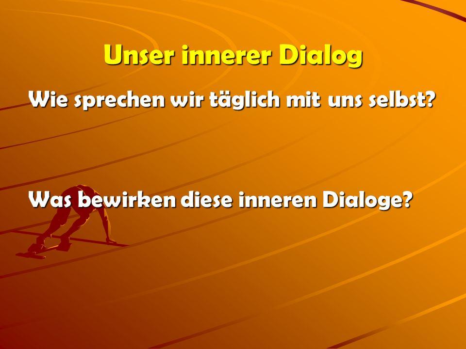 Unser innerer Dialog Wie sprechen wir täglich mit uns selbst