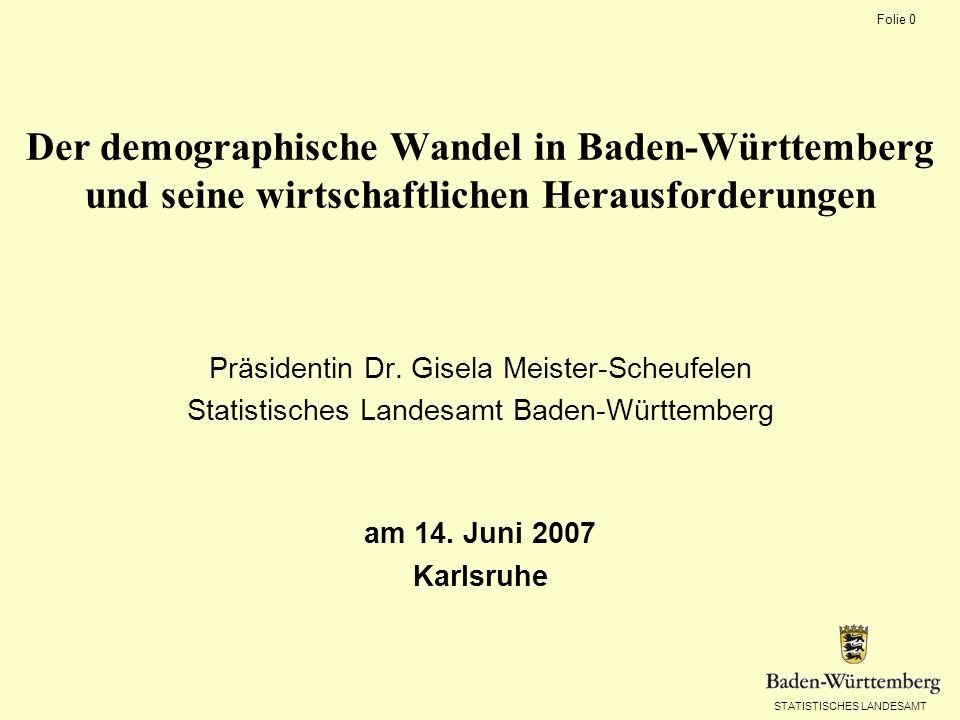 Der demographische Wandel in Baden-Württemberg und seine wirtschaftlichen Herausforderungen