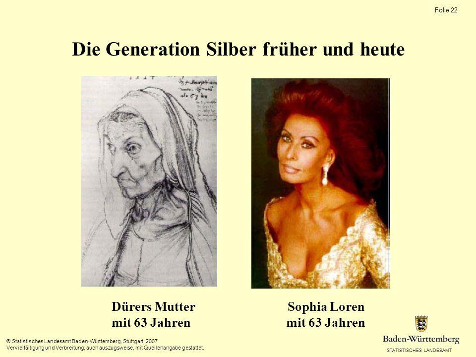 Die Generation Silber früher und heute Dürers Mutter Sophia Loren mit 63 Jahren mit 63 Jahren
