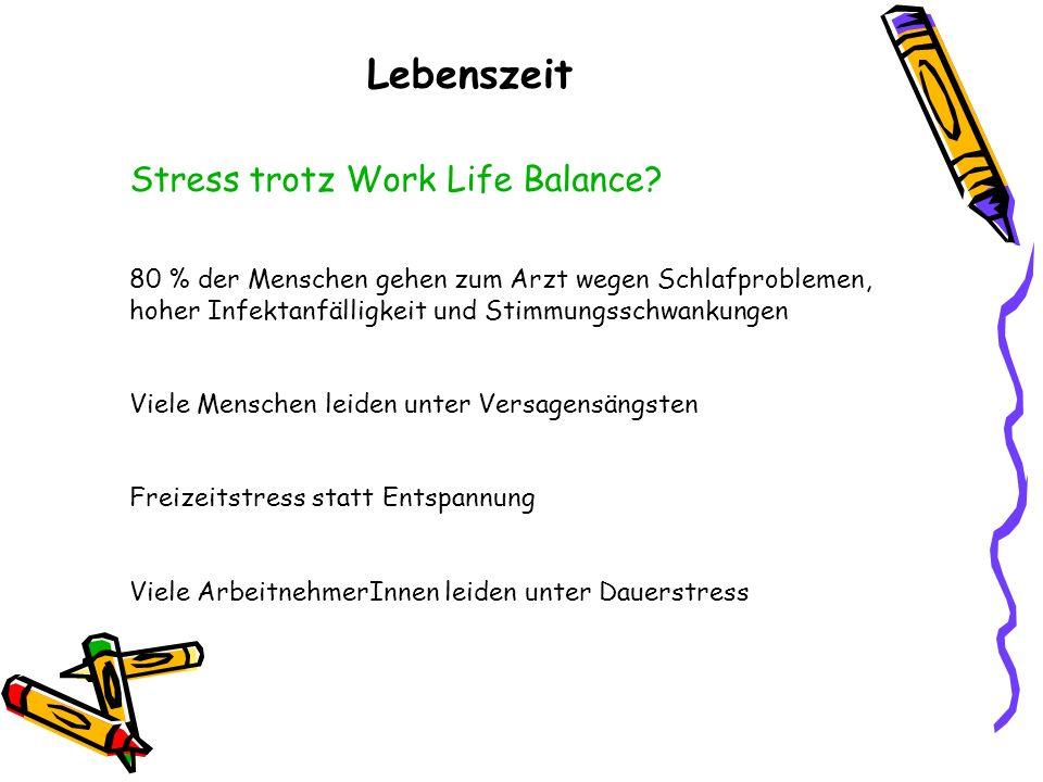 Lebenszeit Stress trotz Work Life Balance