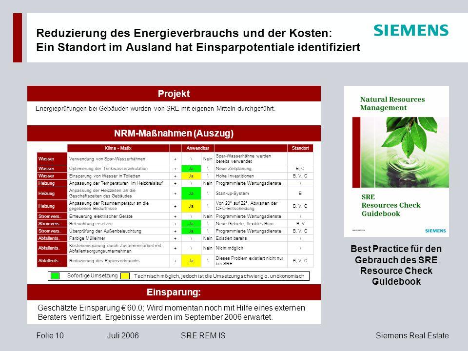 Reduzierung des Energieverbrauchs und der Kosten: Ein Standort im Ausland hat Einsparpotentiale identifiziert
