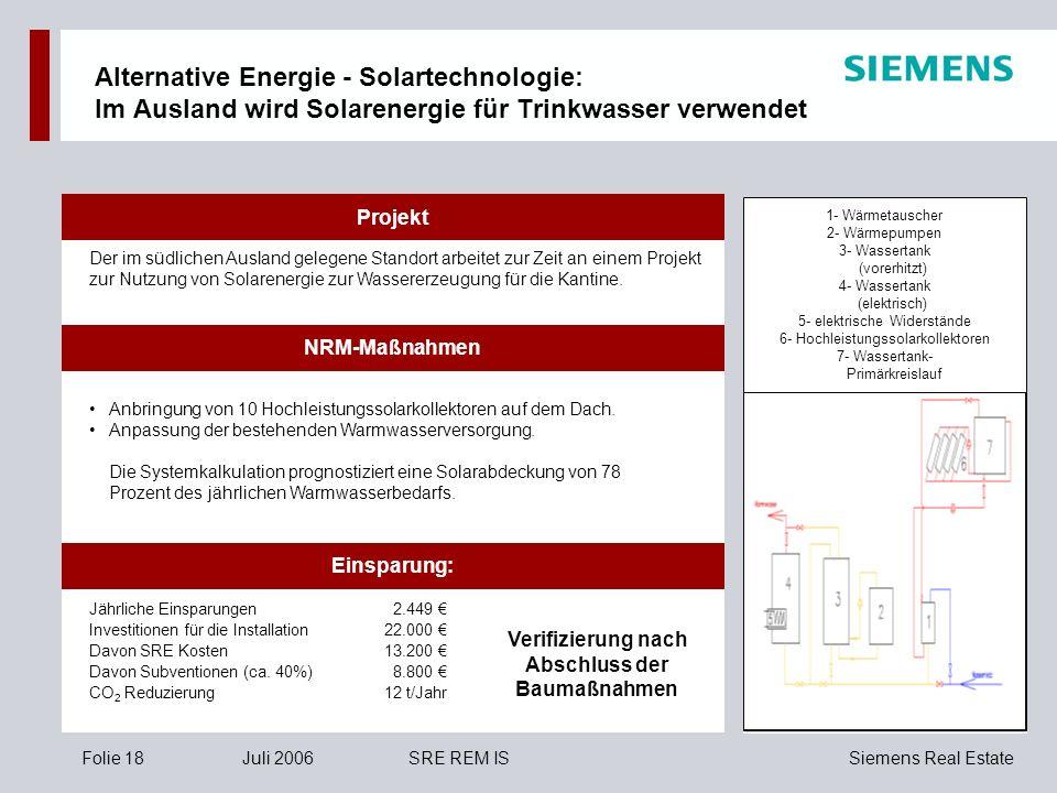 Alternative Energie - Solartechnologie: Im Ausland wird Solarenergie für Trinkwasser verwendet