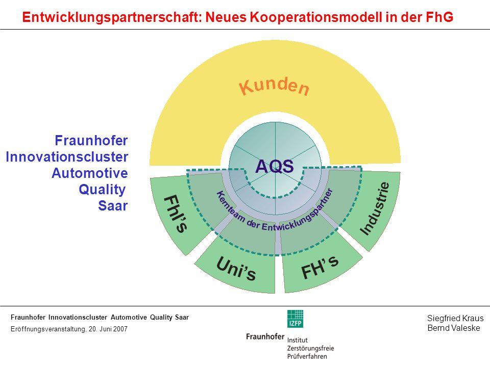 Entwicklungspartnerschaft: Neues Kooperationsmodell in der FhG