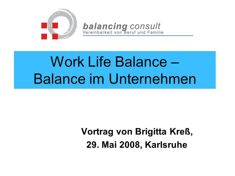 Work Life Balance – Balance im Unternehmen