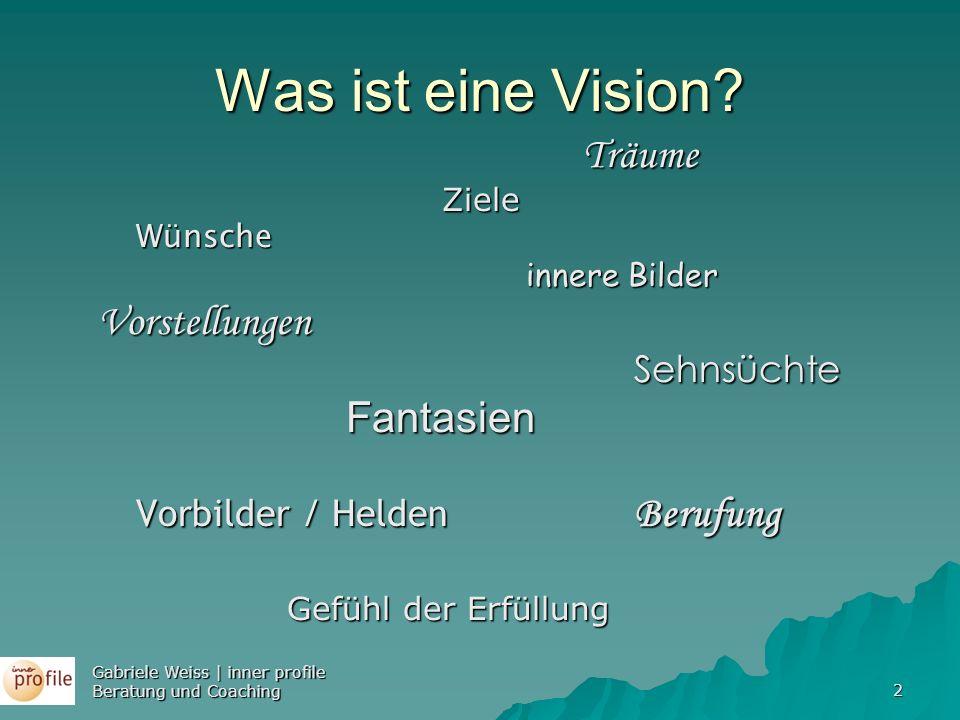 Was ist eine Vision Vorstellungen Fantasien