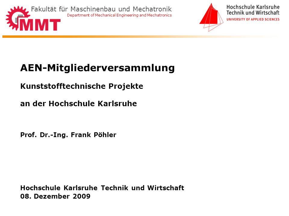 Hochschule Karlsruhe Technik und Wirtschaft 08. Dezember 2009