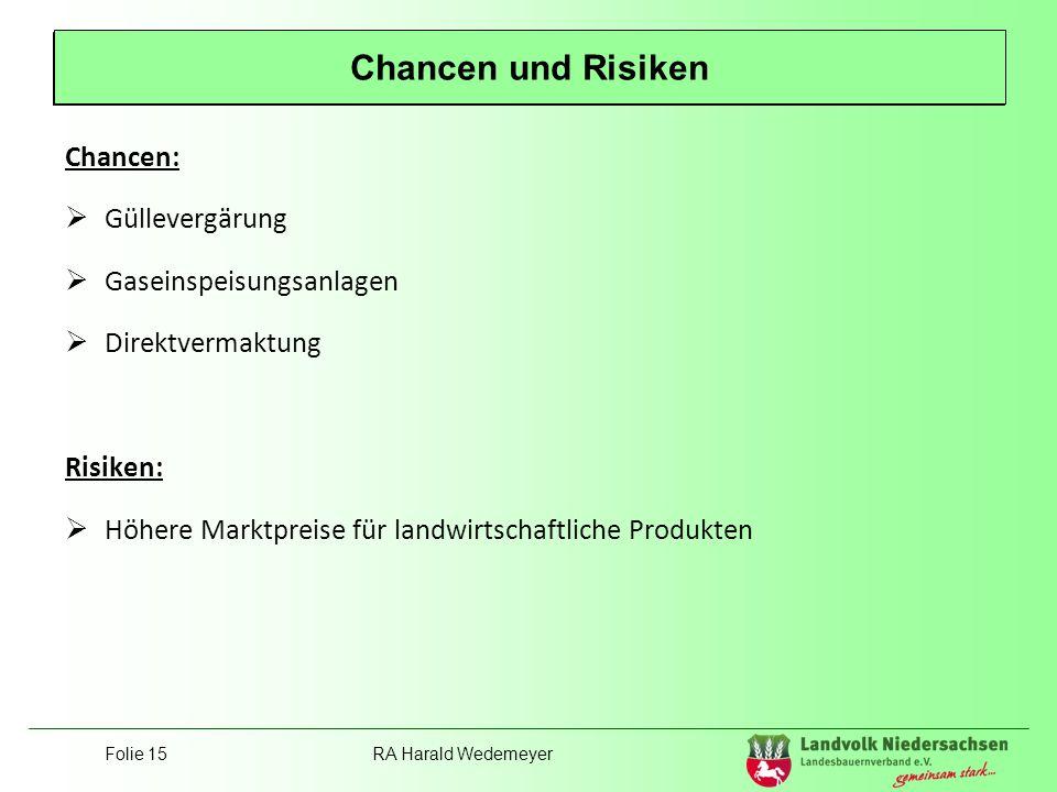 Position Landvolk Chancen und Risiken