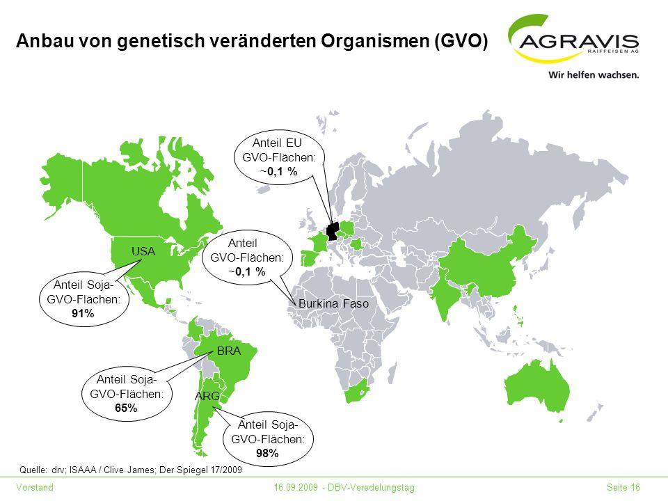 Anbau von genetisch veränderten Organismen (GVO)