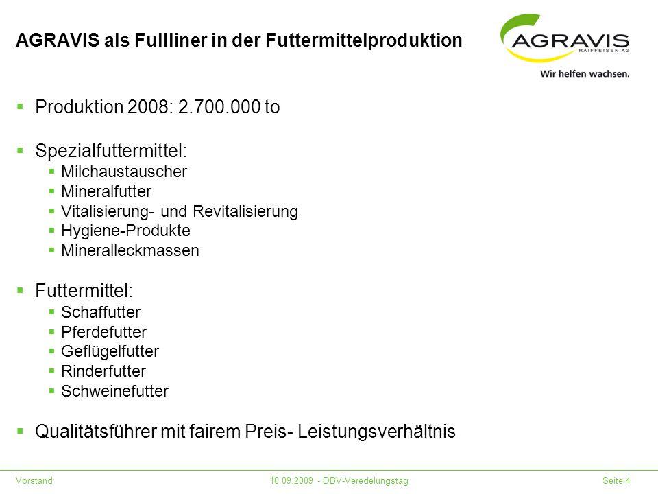 AGRAVIS als Fullliner in der Futtermittelproduktion