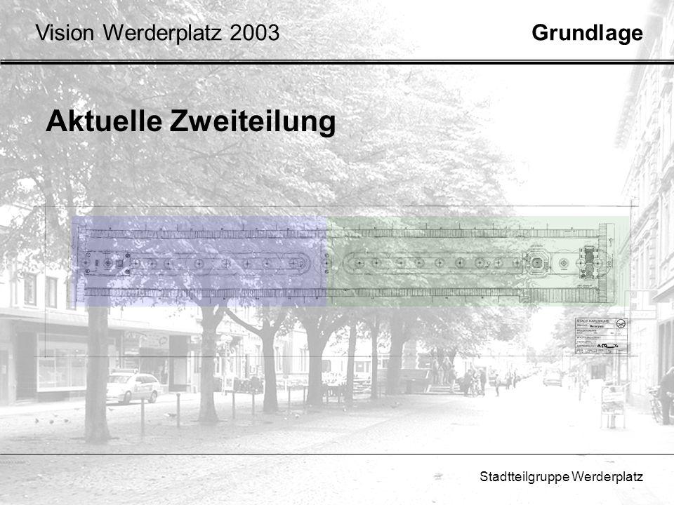 Aktuelle Zweiteilung Vision Werderplatz 2003 Grundlage