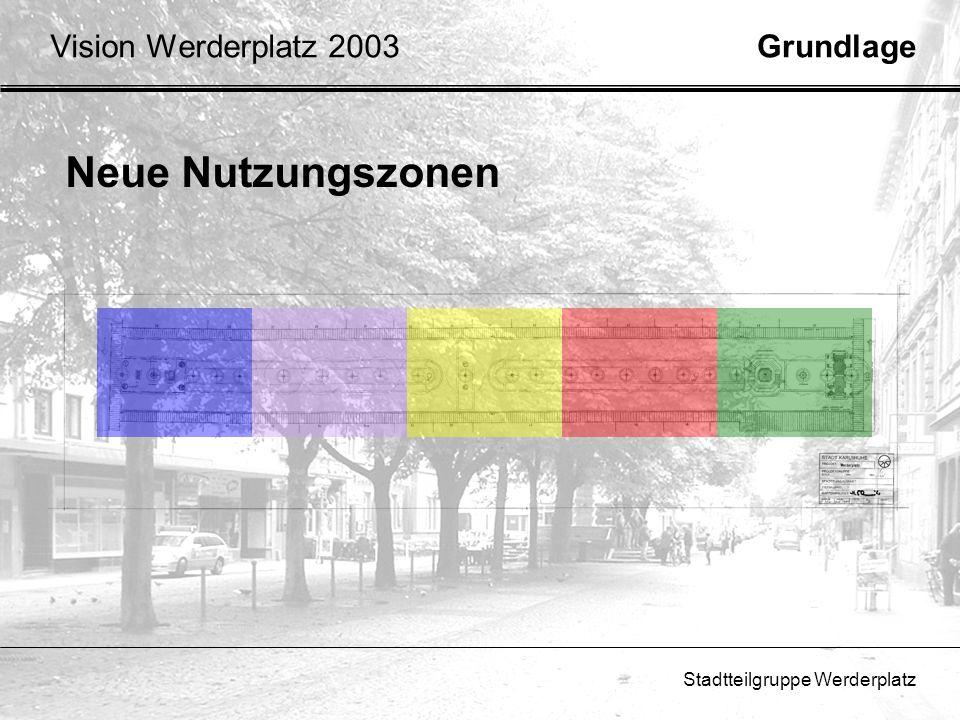 Neue Nutzungszonen Vision Werderplatz 2003 Grundlage