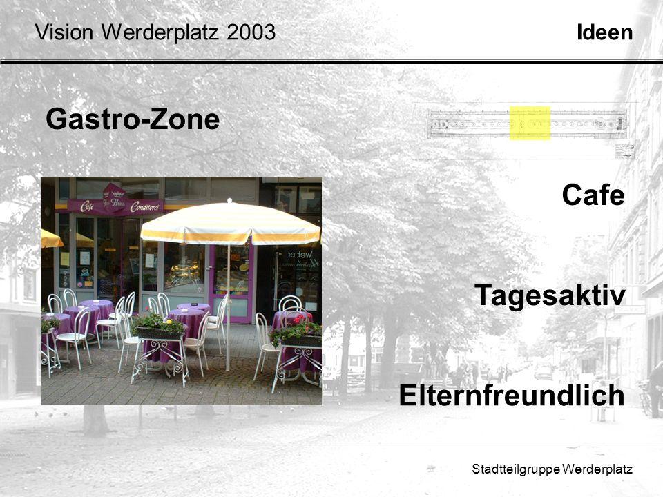 Gastro-Zone Cafe Tagesaktiv Elternfreundlich Vision Werderplatz 2003