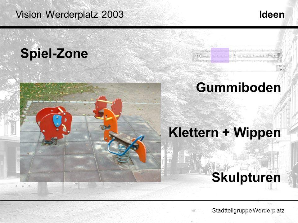 Spiel-Zone Gummiboden Klettern + Wippen Skulpturen