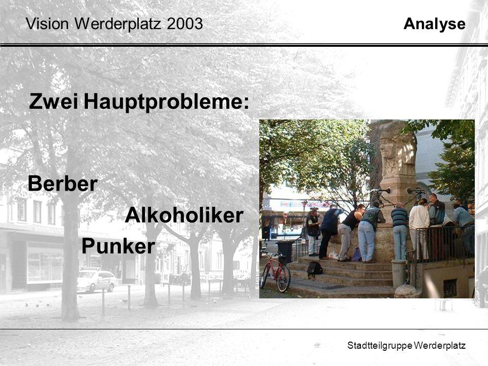 Zwei Hauptprobleme: Berber Alkoholiker Punker Vision Werderplatz 2003
