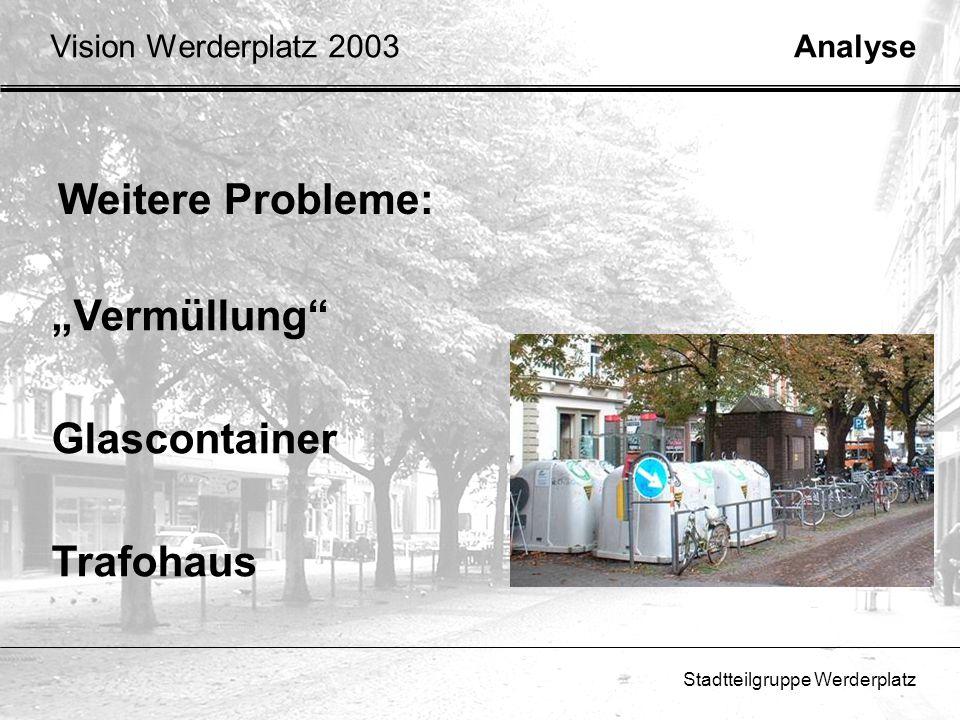 """Weitere Probleme: """"Vermüllung Glascontainer Trafohaus"""