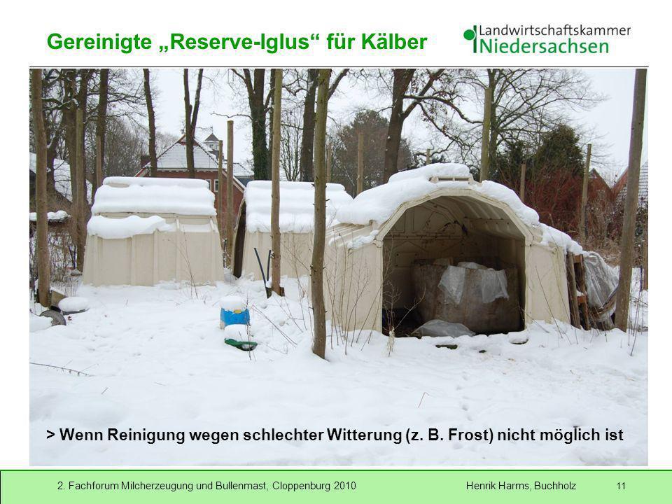 """Gereinigte """"Reserve-Iglus für Kälber"""