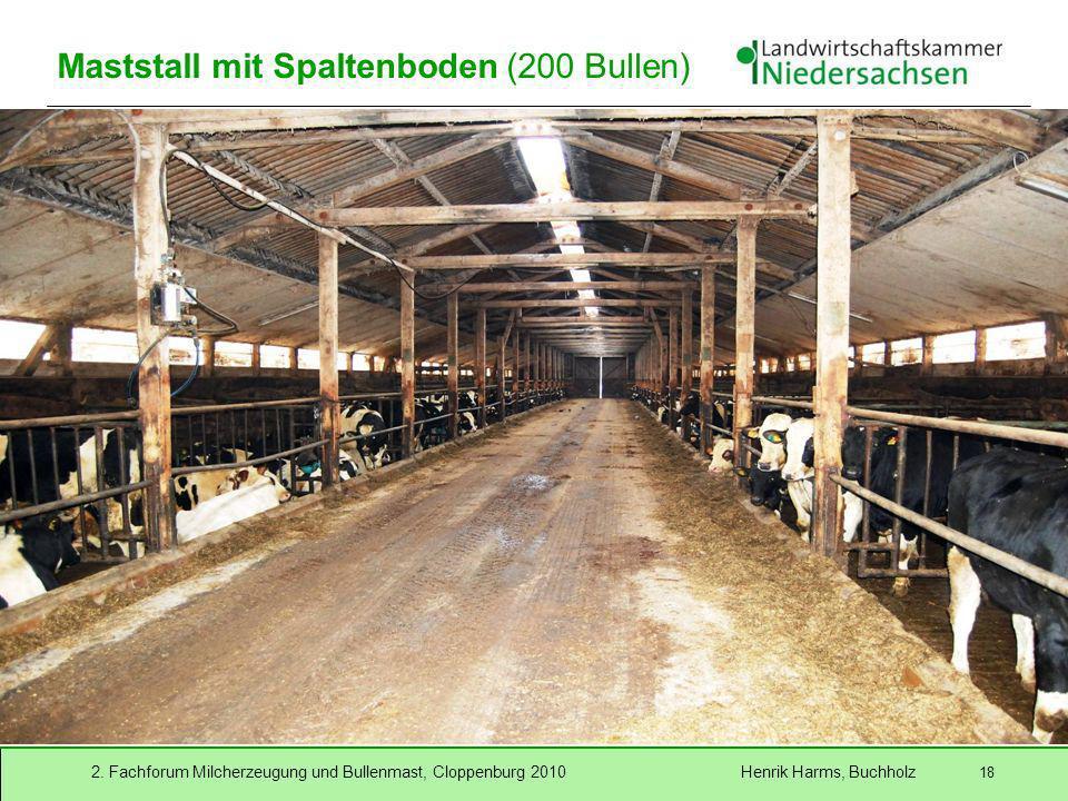 Maststall mit Spaltenboden (200 Bullen)