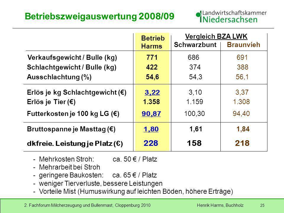 Betriebszweigauswertung 2008/09