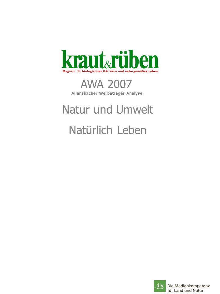 AWA 2007 Natur und Umwelt Natürlich Leben