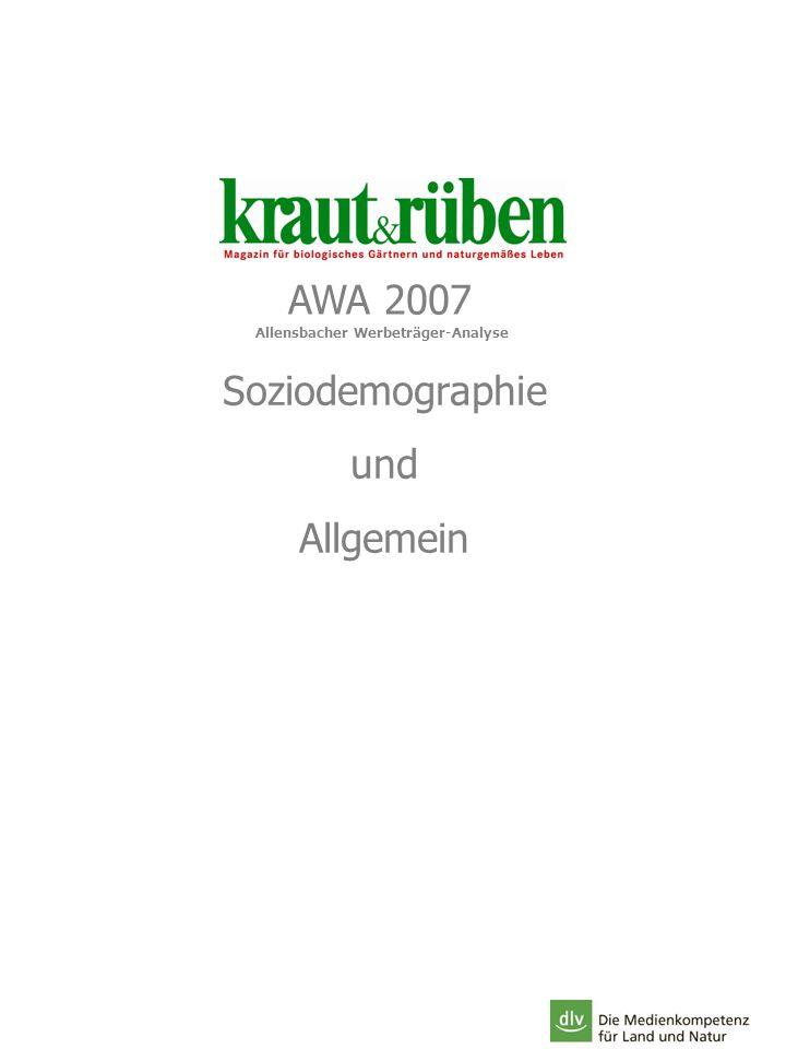 AWA 2007 Soziodemographie und Allgemein