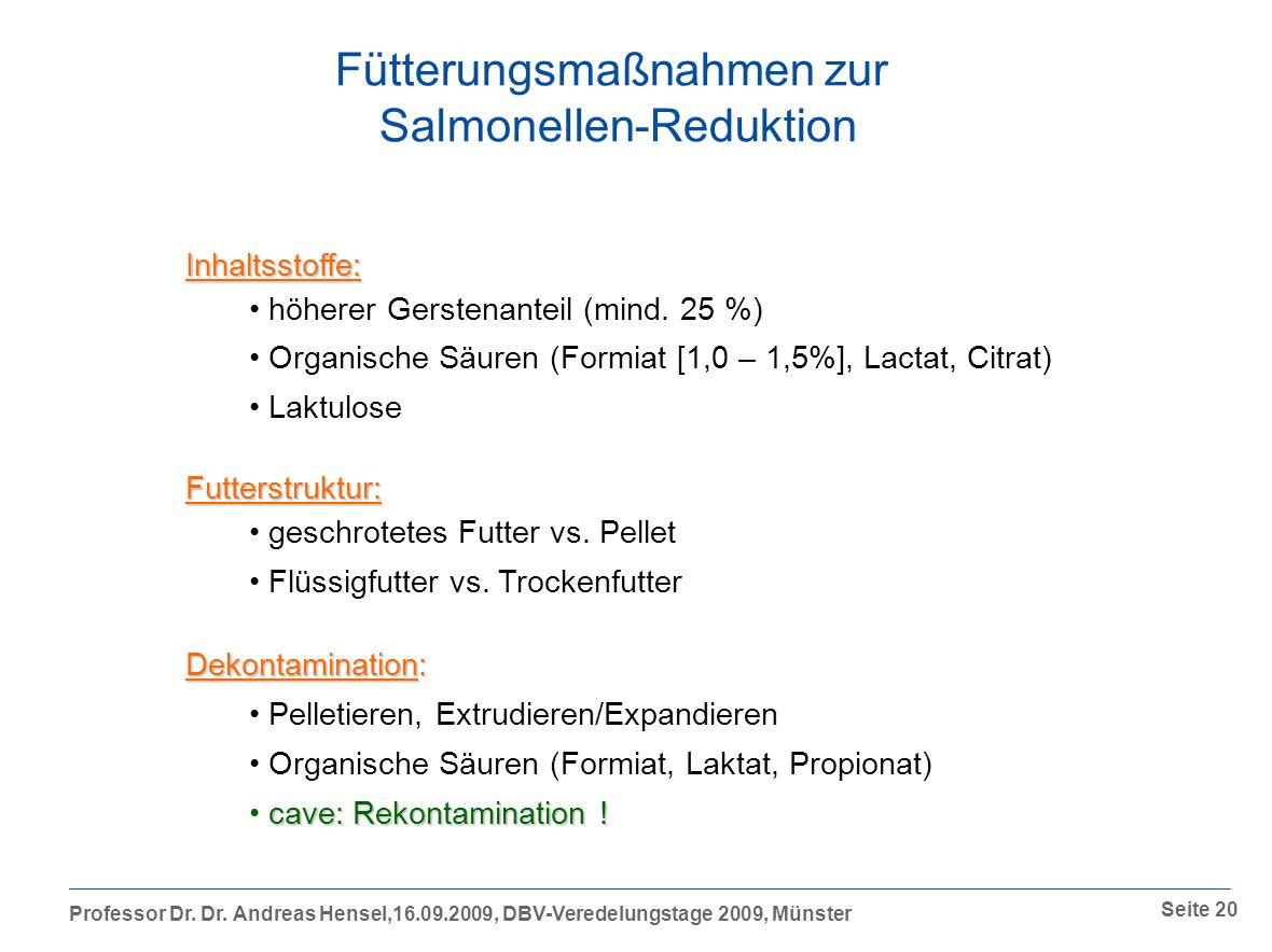 Fütterungsmaßnahmen zur Salmonellen-Reduktion