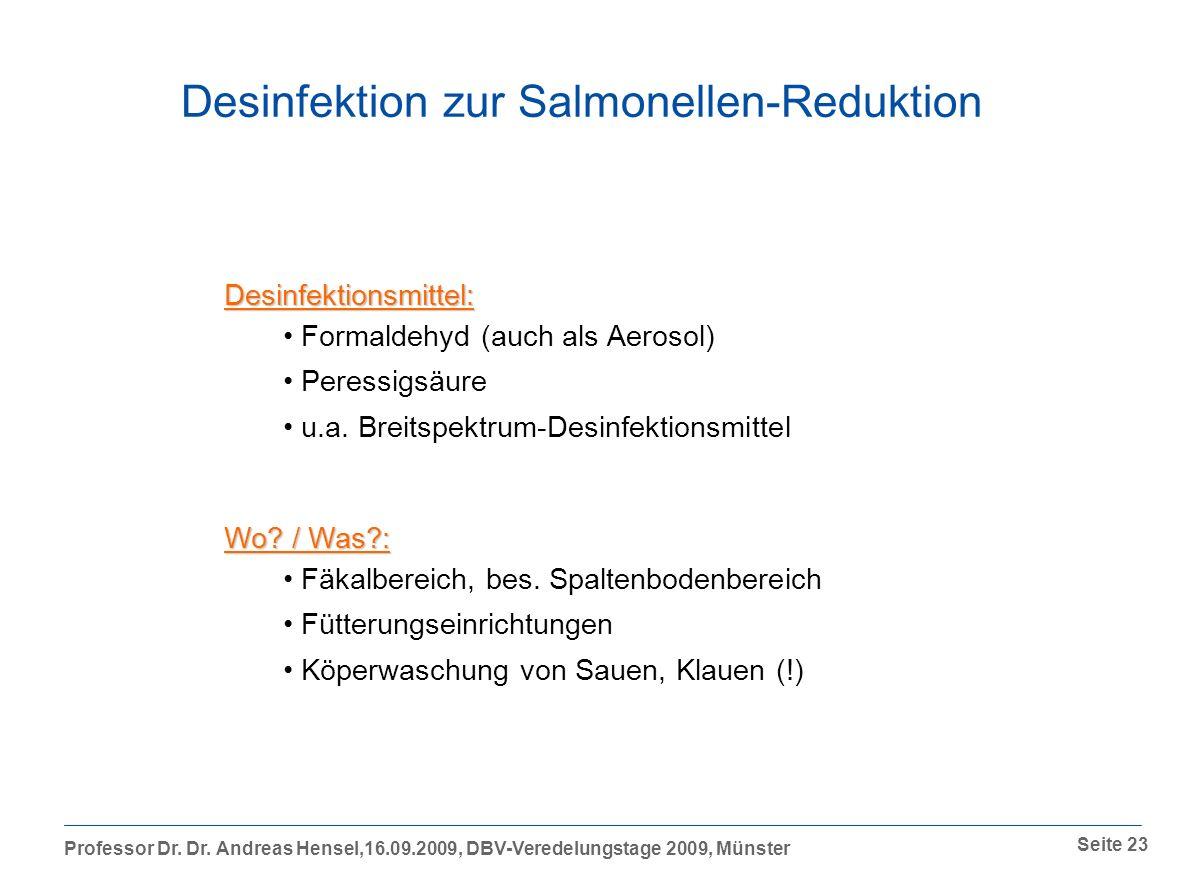 Desinfektion zur Salmonellen-Reduktion