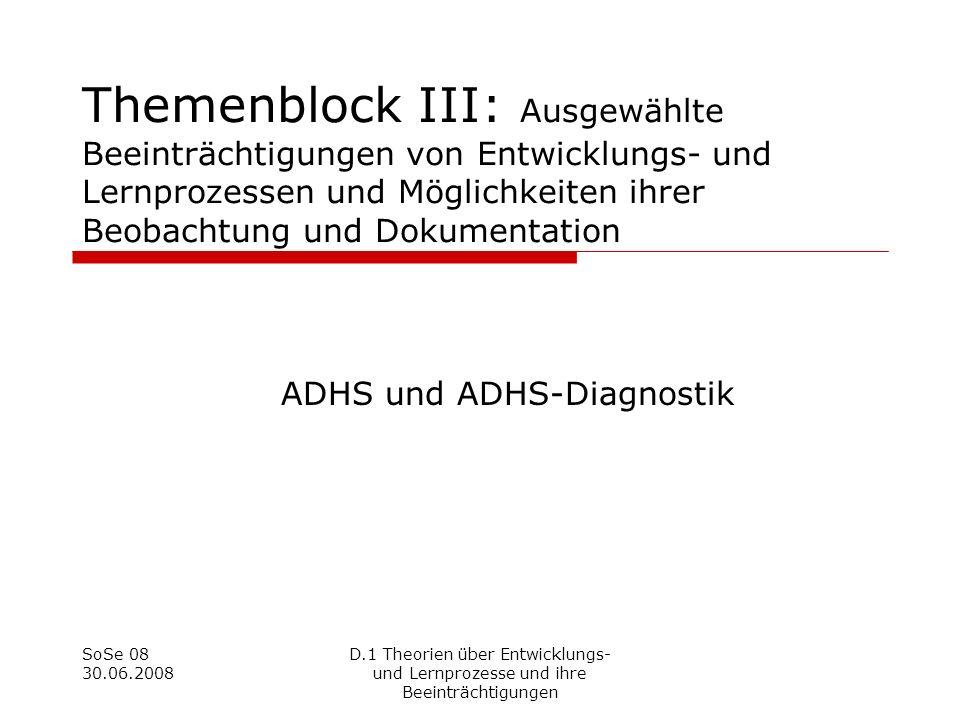 ADHS und ADHS-Diagnostik
