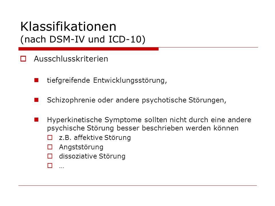 Klassifikationen (nach DSM-IV und ICD-10)