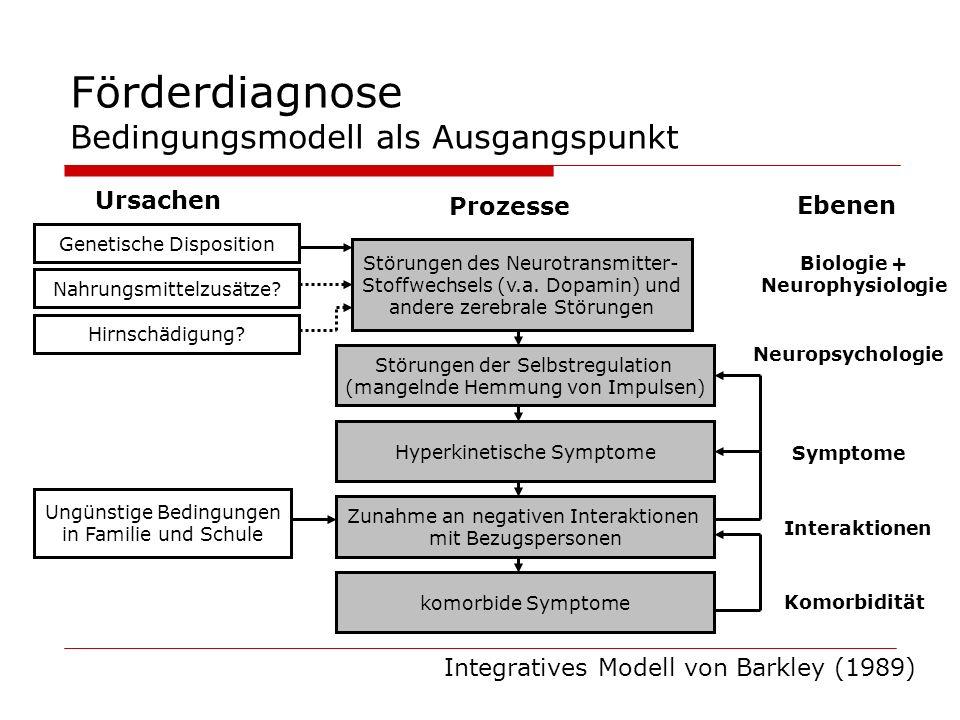 Förderdiagnose Bedingungsmodell als Ausgangspunkt