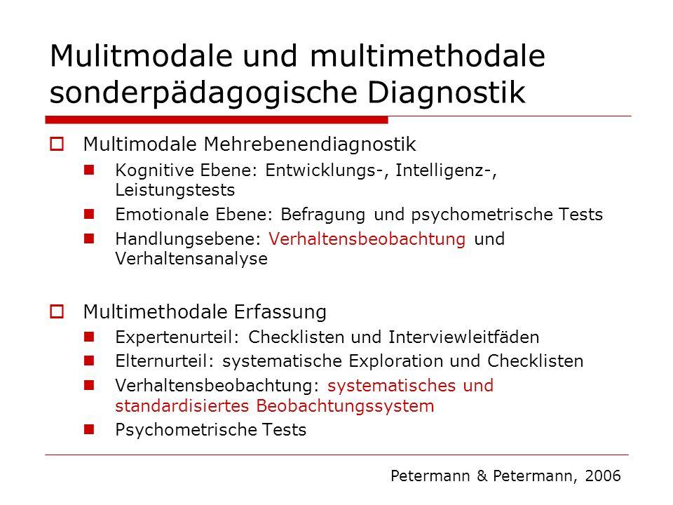 Mulitmodale und multimethodale sonderpädagogische Diagnostik