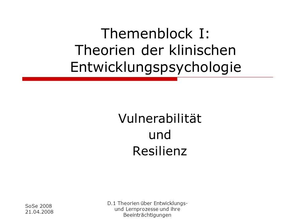 Vulnerabilität und Resilienz