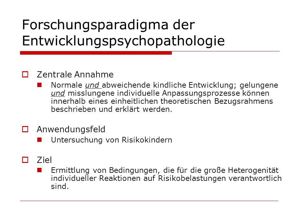 Forschungsparadigma der Entwicklungspsychopathologie