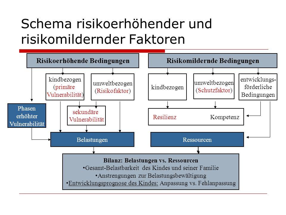 Schema risikoerhöhender und risikomildernder Faktoren