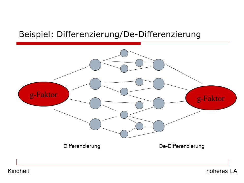 Beispiel: Differenzierung/De-Differenzierung