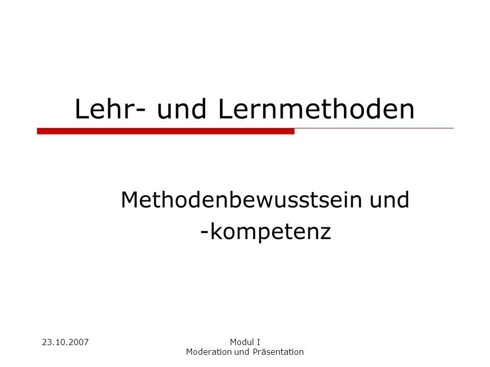 Lehr- und Lernmethoden