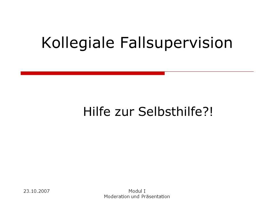 Kollegiale Fallsupervision