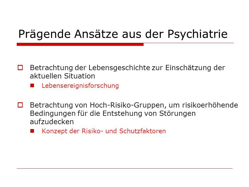 Prägende Ansätze aus der Psychiatrie