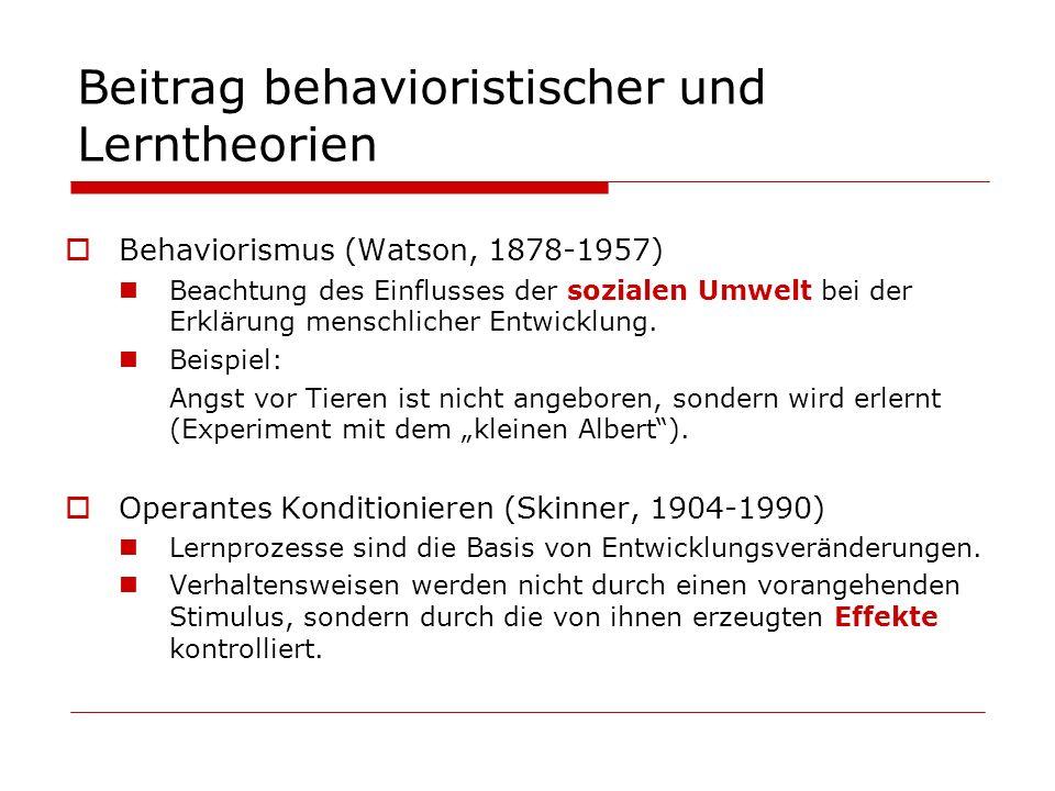 Beitrag behavioristischer und Lerntheorien